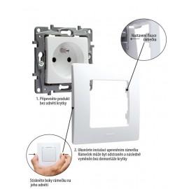 Solight bezdrátový senzor pro měření teploty a vlhkosti, bílý