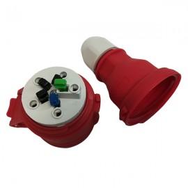 Zásuvka 380V Bals 3136 5x16A/380V IP44 na prodlužovák - zapojení