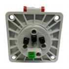 Třífázová zásuvka 380V Bals 13693 4x16A/380V IP44 vestavná - zadní strana