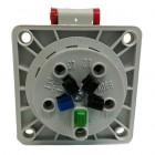 Zásuvka 380V Bals 132001 5x16A/380V IP44 vestavná - zadní strana