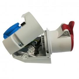 Zásuvka 380V IZVZ 3243 /32A/380V/4-kol. + 230V - zapojení