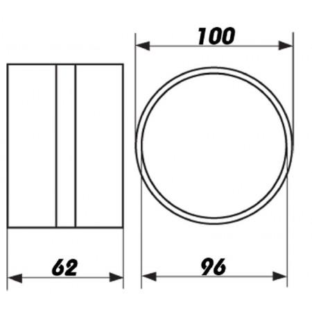 Rozdvojka 230V - 2x zásuvka 2,5A
