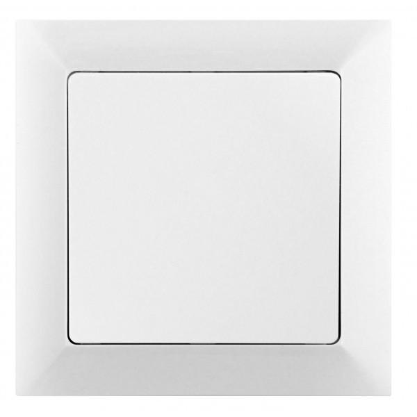 Vypínač Opus č. 1 jednopólový, bílý