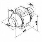 Ventilátor do potrubí Vents TT 315