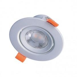 LED bodové svítidlo náklopné WD212 5W 3000K stříbrné
