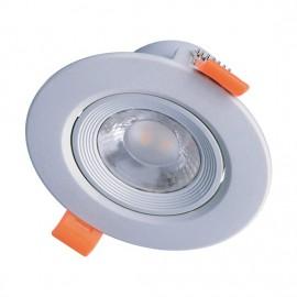 LED bodové svítidlo náklopné WD216 9W 3000K stříbrné