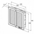 Větrací mřížka nerezová Haco NVM 150x150 s rámečkem