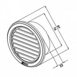 Větrací mřížka nerezová kruhová Haco NVM 75