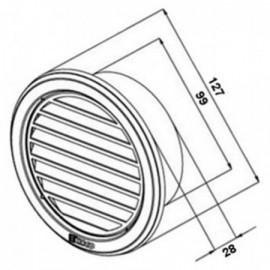 Větrací mřížka nerezová kruhová Haco NVM 100