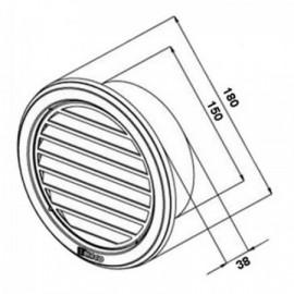 Větrací mřížka nerezová kruhová Haco NVM 150