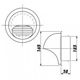 Větrací mřížka nerezová kruhová SUVLA 125