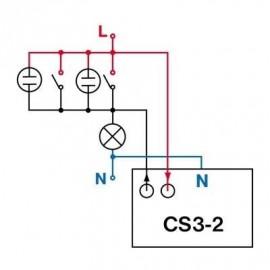 Časový spínač pod vypínač CS3-2