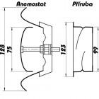 Talířový ventil-anemostat odvodní kov 100 AM100VRF