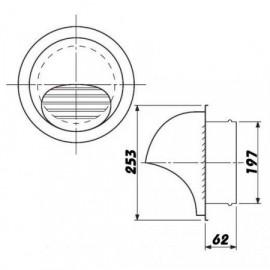 Větrací mřížka nerezová kruhová SUVLA 200