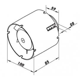 Ventilátor do potrubí Vents 100 VKO1 T časovač