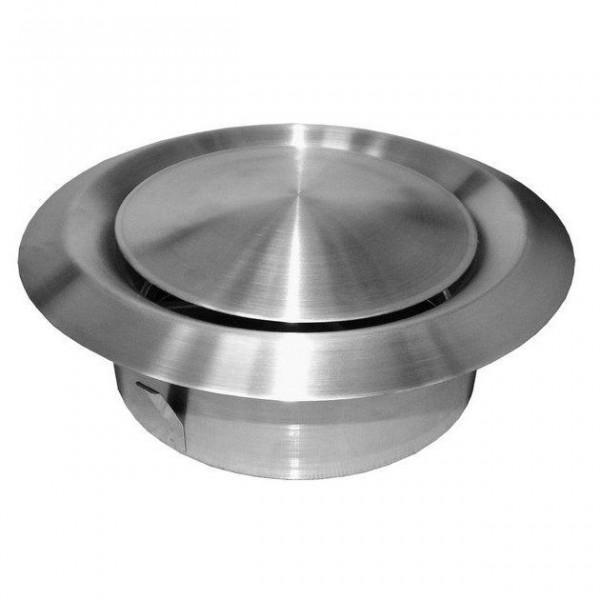 Talířový ventil-anemostat přívodní nerez ANMN-P 200 Nerez-matný