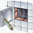 Revizní dvířka plastová 400x600 mm Haco