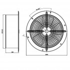 Ventilátor průmyslový kruhový Dalap RAB O Turbo 200