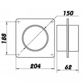 Konektor Cinch rozdvojka 1 x vidlice / 2 x zásuvka