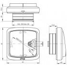 Venkovní tlačítko IP44 č.1/0 TANGO 3558A-86940 B bílé ABB
