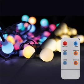 LED venkovní vánoční řetěz 20m, 200 LED, přívod 5m, 8 funkcí, časovač, IP44