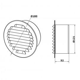 Větrací mřížka nerez kruhová GM 125 BVA