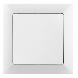 Vypínač Opus Premium č.7 křížový, bílý