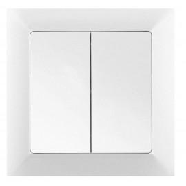 Vypínač Opus Premium č.5B dvojitý, střídavý, řazení 6+6, bílý