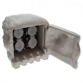 Kamenný zahradní sloupek STONE 4, 4x230V, IP44