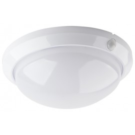 Svítidlo s čidlem pohybu FLAVIA 1xE27, 30cm, IP44, bílé