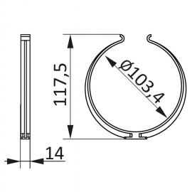 PVC úchyt kulatého potrubí Ø100mm