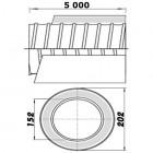 Ohebné ventilační potrubí izolované 150/5m