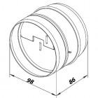 Zpětná klapka kovová 100 mm