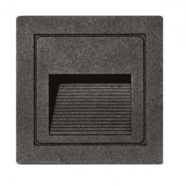 LED vestavné orientační svítidlo STEP 85×85mm, 3W, IP54 černá matná