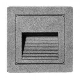 LED vestavné orientační svítidlo STEP 85×85mm, 3W, IP54 silver