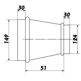 Kovová redukce 125/150mm