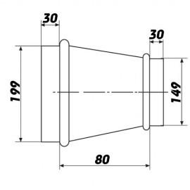Kovová redukce 150/200mm