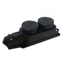 Dvojnásobná zásuvka na kabel IP44 , 2 x 230V/16A