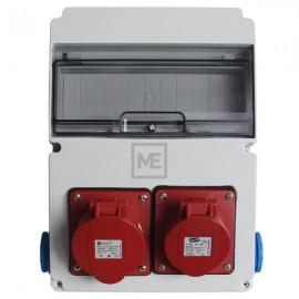 Stavební rozvaděč ESG 16980 - 1x 16A 5P , 1x 32A 5P 400V, 2x 230V , IP54