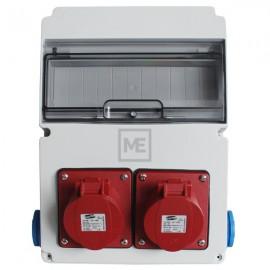 Stavební rozvaděč ESG 16981 - 2x 16A 5P 400V, 2x 230V , IP54