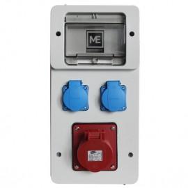 Stavební rozvaděč ESG 16983 - 1x 16A 5P 400V, 2x 230V , IP54