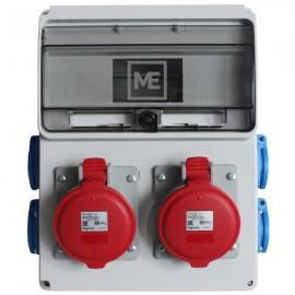 Stavební rozvaděč ESG 16976 - 2x 32A 5P 400V, 4x 230V , IP54