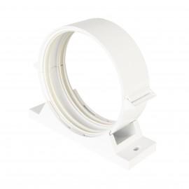 PVC úchyt s tlumící gumou kulatého potrubí Ø100mm