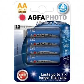 Baterie alkalická LR6 AgfaPhoto Power - AA, tužková, 4ks