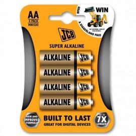 JCB SUPER alkalická baterie LR6 - AA, tužková, 4ks