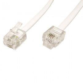 Telefonní propojovací kabel 5 m s koncovkami RJ11