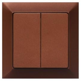 Vypínač Opus premium č. 5 sériový - lustrový - kompletní, mahagon