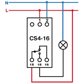 Spínací hodiny na DIN lištu digitální CS4-16