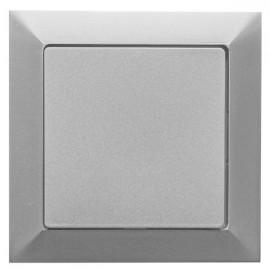 Vypínač Opus premium č. 1 jednopólový - kompletní, stříbrný