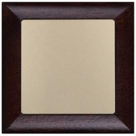 Vypínač Opus Premium č.6 - kompletní, wenge-šampaň - dřevěný rámeček